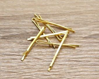 Gold bobby pins, Gold classic bobby pins, Golden Bobby Pins, Gold Hair Pins, Blank Hair Pins, Gold Plated Steel Hairpins, Bobby Hair Clip