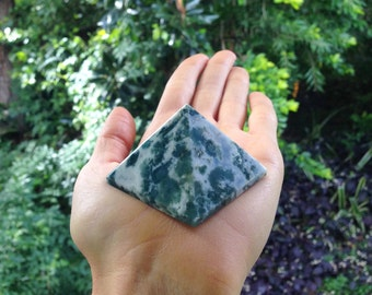 Tree Moss Agate pyramid ~