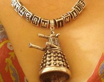 Dr. Who Dalek EXTERMINATE necklace