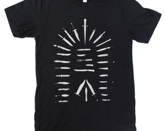 Knives T-Shirt UNISEX  -  S M L XL  -  Available in two shirt colors