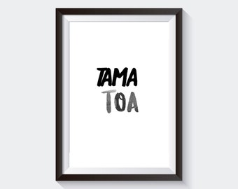 TAMA TOA - Printable Maori Wall Art
