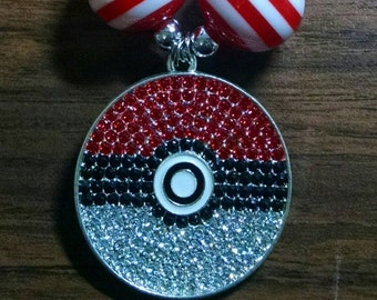 Pokémon Ball Toddler Bubblegum Necklace.  Pokeball