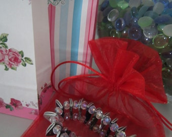 Tricolor spring bracelet