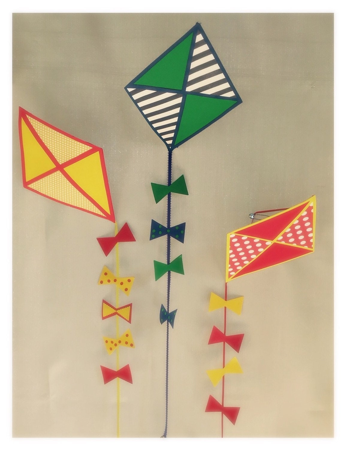 Kite decorations hanging set of 3 for Decoration kite