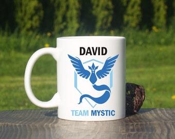 Personalized Team Mystic mug-Pokemon go-Pokemon team-Pokemon coffee mug-Pokemon team go mug-Team Mystic-Pokemon mug-Mystic mug-Pokemon go