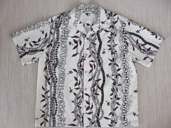 Vintage Hawaiian Shirt 70s Mamo Howell Designer Signed Lei