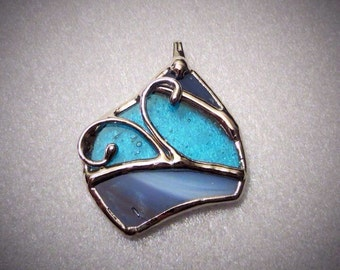 Handmade stained glass pendant