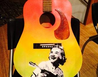Acoustic Guitar- Graffiti Tagged