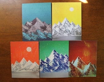 5 Blank Pinnacle Notecards with Envelopes