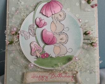 Cute Handmade birthday card