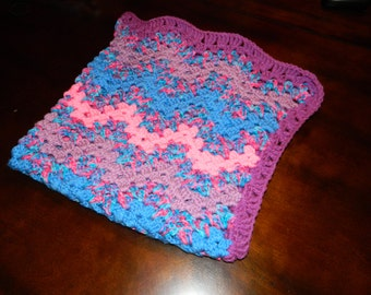 Baby Blanket (Pink/Purple/Blue)