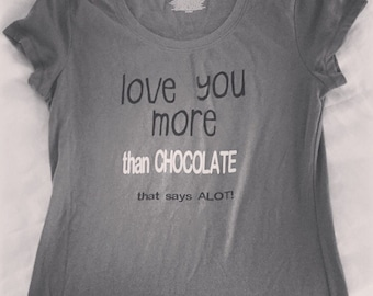Love/Chocolate fitted tee