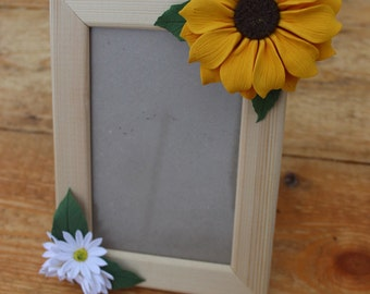 Frame with Sunny sunflower