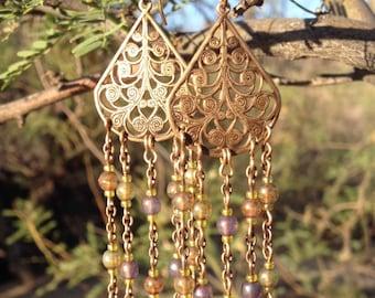 Zelma fan flourish earrings. ZEL002