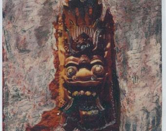 Balinese Mask, altered polaroid