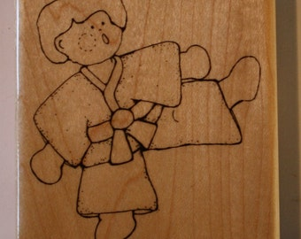 Karate Kick rubber stamp by CTMH
