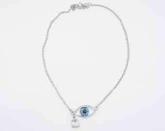 Silverstone Charm necklace And Crystal Eye
