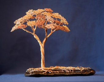 Hardwood Wire Tree Sculpture