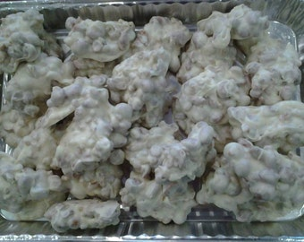 White Chocolate Toffee Peanut Clusters