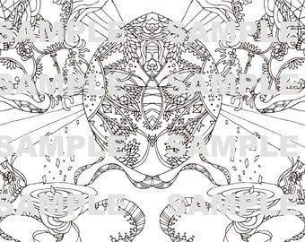 adult coloring pages handmade coloring patterns - Coloring In Patterns