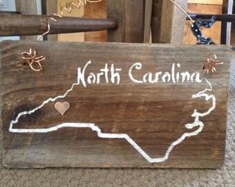 Rustic NC Sign