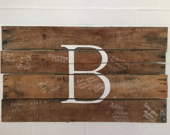 Hand Painted Monogram Sign