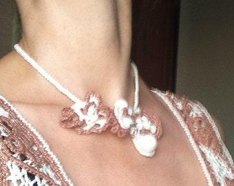 necklace Irish crochet