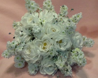 Silk Flower Wedding Bouquet Package