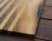 NEW* Walnut + Poplar Live Edge cutting board