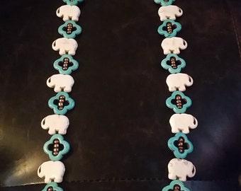 Elephant Tourquise Necklace