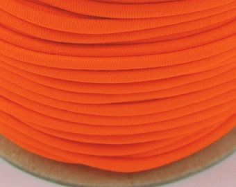 5, 10, 50 m rubber cord 3 mm neon orange
