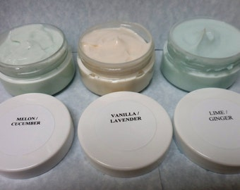 Lotions in three frangences.