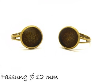 10 ring blanks 17 mm bronze with 12 mm cabochon version