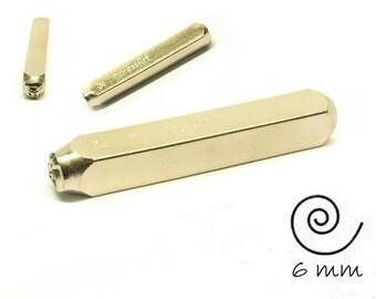 1 design stamp spiral swirl punch hallmark
