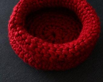Medium Sized Handmade Crochet Basket
