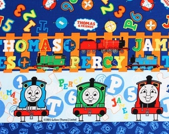 Thomas the Train, Thomas and Friends Fabric made in Japan By the Half Yard