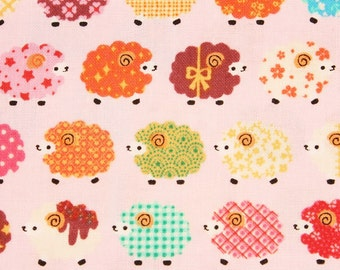 Animal) Lovely Sheep Patterned Fabric, Kids Cute Fabric, made in Korea by the Half Yard