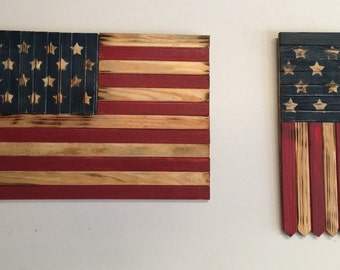 American Flag Wall Hanging and Banner Combo  - patriotic decoration FREE SHIPPING