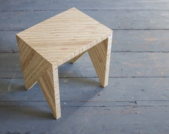 HONO 1 - a noble recycled stool / noble recycled wooden stool