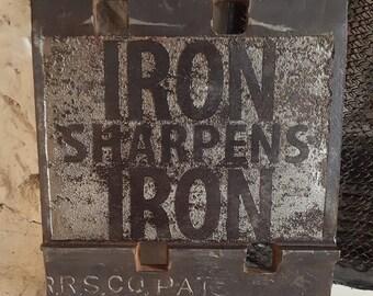 "Steel Plate - ""Iron Sharpens Iron"""