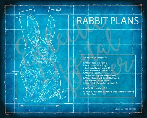 Funny rabbit blueprint rabbit poster rabbit wall art gift funny rabbit blueprint rabbit poster rabbit wall art gift for rabbit lover digital print printable rabbit art computer blue print malvernweather Choice Image