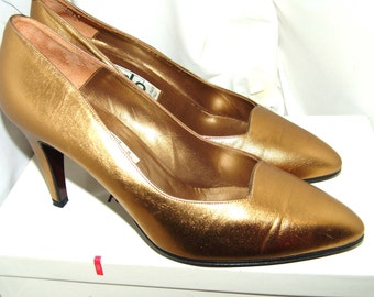 Galo retro metallic pumps size 37 Made in Italy