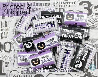 Happy Halloween Party Favors, Halloween Party Decorations, Halloween Stickers, For Hershey Miniature Candy Bars (54 Stickers)