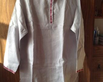 """Linen Shirt. Russian Folk Style """"Kosovorotka"""""""