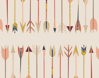 Arrows Fabric, Fletching Chant, Wild and Free Collection, Woodland Nursery fabric, Art Gallery Fabrics, Fabric by the yard, WFR 147