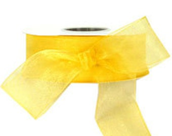 Yellow Sheer Ribbon     (10-##-S-124)