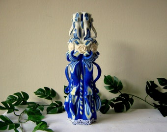 "big size carved candles- 31sm (12,1/4"")"