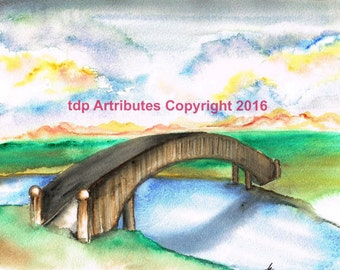 Footbridge Over Still Running Stream