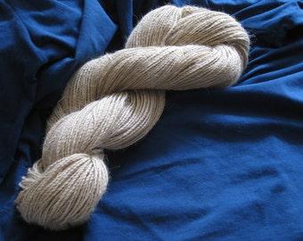 Baby alpaca yarn créme, hand spun, finest knitting wool, 100 g, 3.5 oz