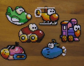 Transformation of Yoshi from Yoshi Island in Hama MIDI beads